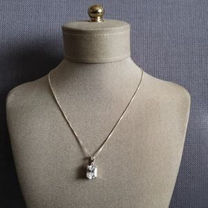 """Sterling silver chain & charm 16"""""""